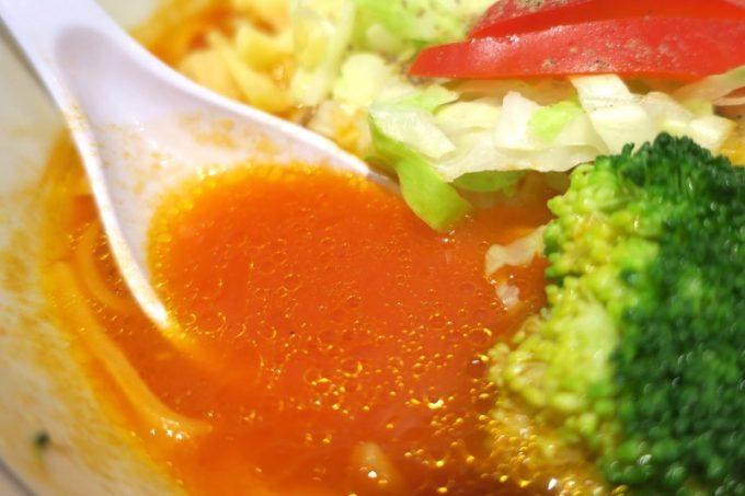 トマトスープはドロっとしすぎず、濃さが丁度いい