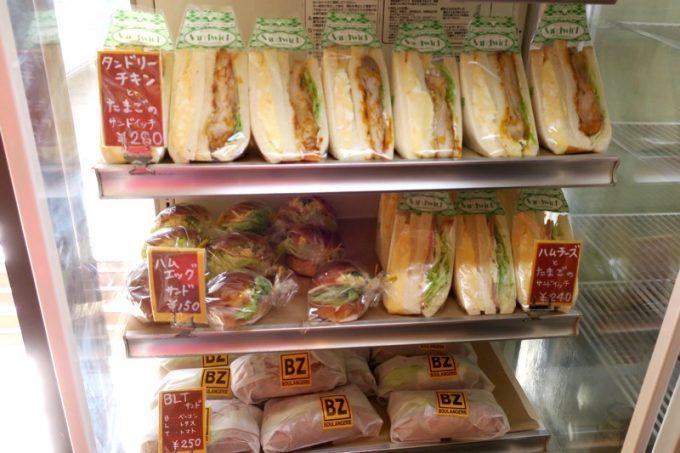 サンドイッチやサンドもある。