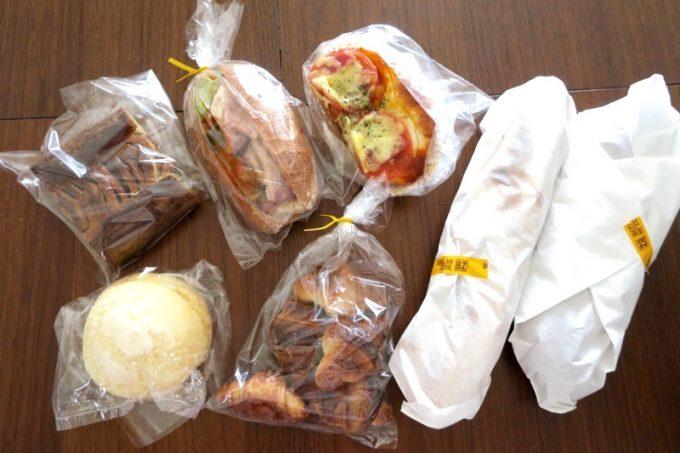 この日「BOULANGERIE BZ(ブーランジェリービズ)」で買ったパンは7種類