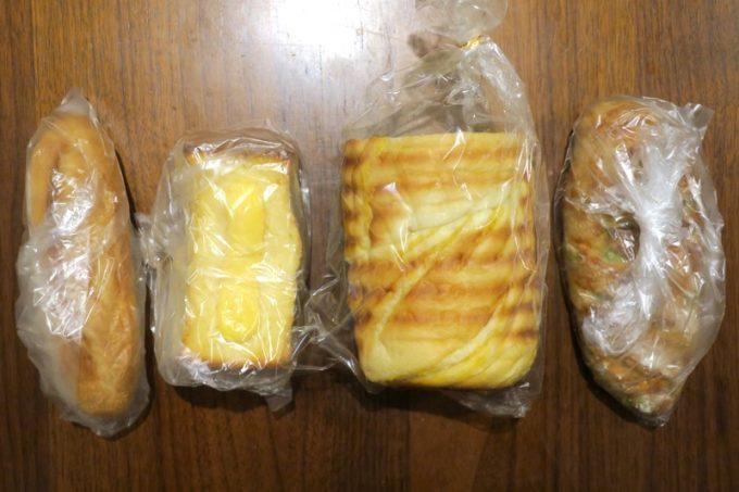 「いまいパン」で買ってきた4種類のパン