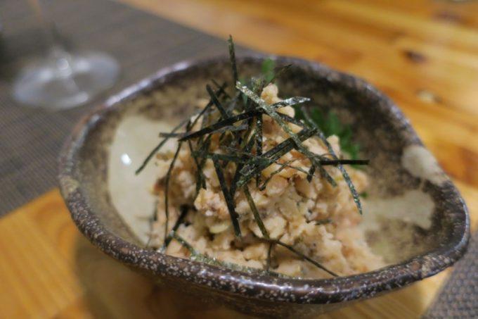 「和飲食堂」桜エビと塩昆布の和風ポテトサラダ(450円)