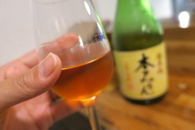 「和飲食堂」デザート酒として、福来純の本みりん・三年熟成(グラス700円)もあった。
