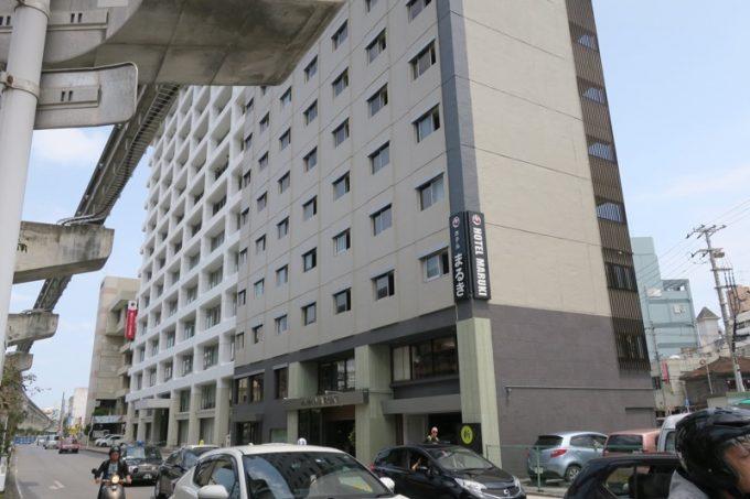 那覇・久茂地にある「ホテルまるき」外観