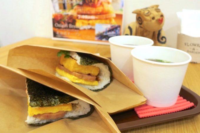イートインしてから出発。もずくのスープはおにぎりとセットだと200円。50円安くなる。