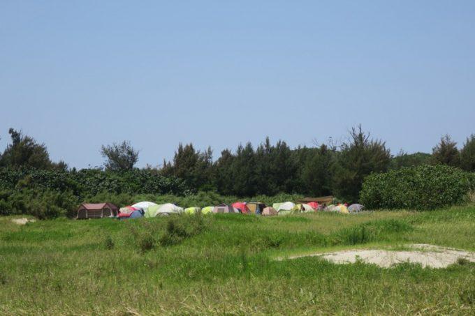 そういえば、駐車場の近くにもテントが連なった場所があった。