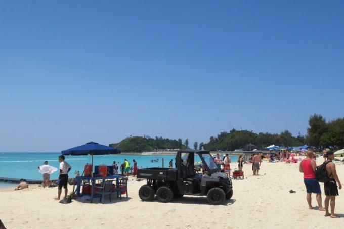 米軍保養地のオクマビーチ(その1)