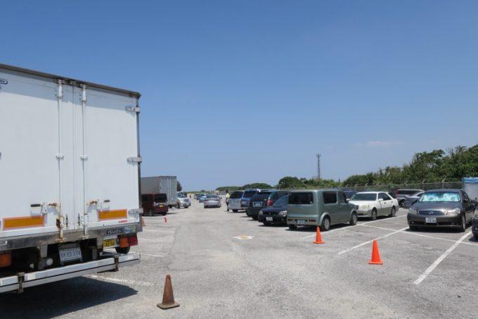 「オクマビーチフェスト」の駐車場(その1)