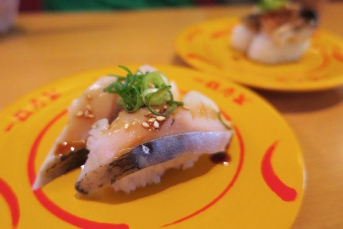とろ〆さば(ごまネギ)と、厚切り焼き鯖