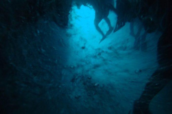 青の洞窟の海中(その1)