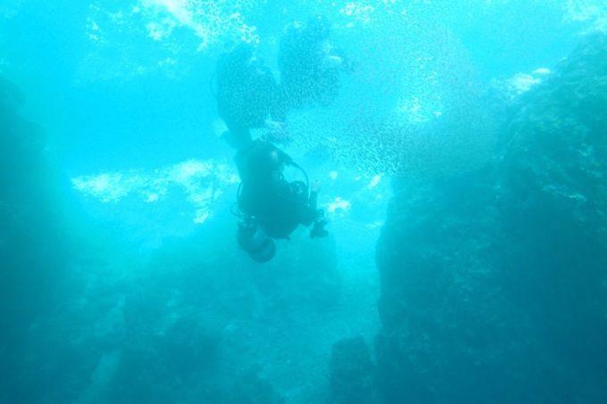 青の洞窟の海中(その2)