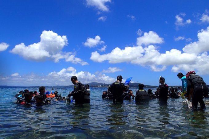 海が深いので海水温度は低め。でも夏場は過ごしやすい。