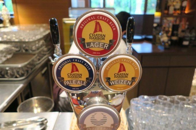 この「オーシャングリル」では、北谷ハーバーブルワリーのビールも飲むことができる