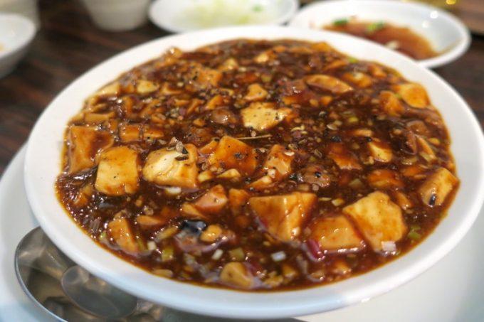 「アジア麺 樹」の四川麻婆豆腐(500円)