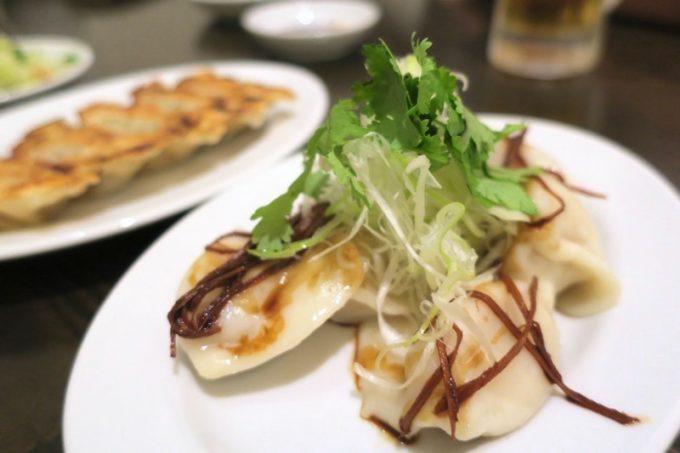 「アジア麺 樹」の水餃子(5こ、350円)