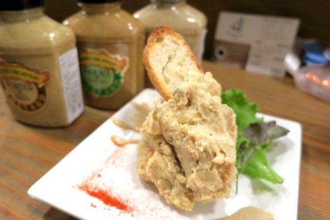 「CRAFT BEER BASE garden(クラフトビアベースガーデン)」のシェラネバダマスタードのポテトサラダ(500円)