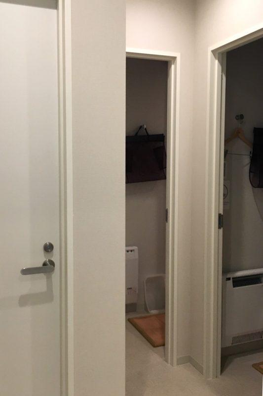 「グリッズ札幌ホテル&ホステル」の共同トイレとお風呂
