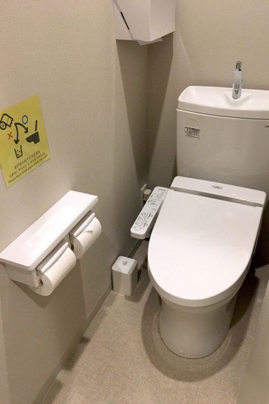 「グリッズ札幌ホテル&ホステル」の共有トイレ