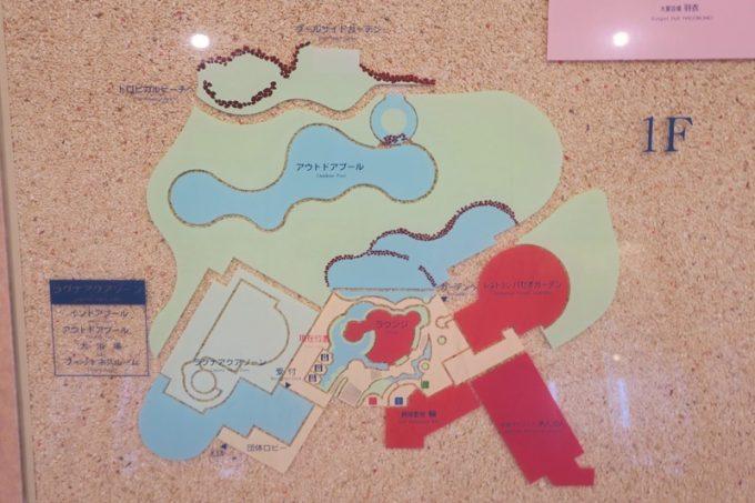 ラグナガーデンホテルの館内マップ(その1)