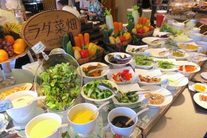「パセオガーデン」の朝食はラグ菜畑が人気