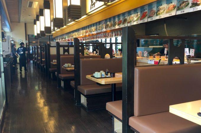 函館ベイ美食倶楽部にある「まるかつ水産」のボックス席