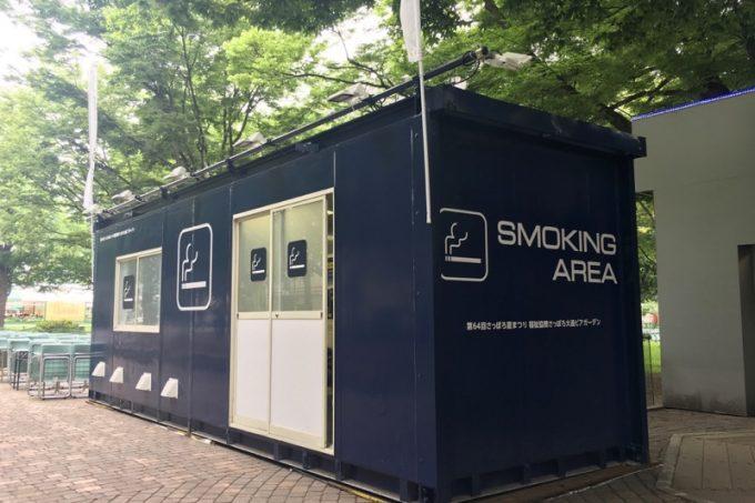 全面禁煙席の「さっぽろ大通ビアガーデン」は喫煙スペースが設けられている