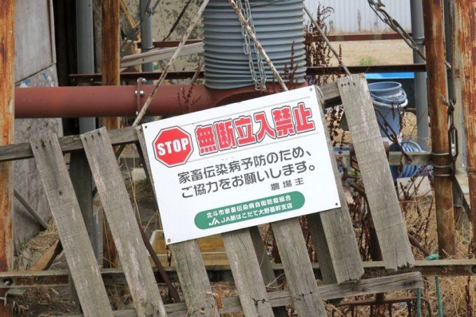 もちろん、牛舎は立ち入り禁止。