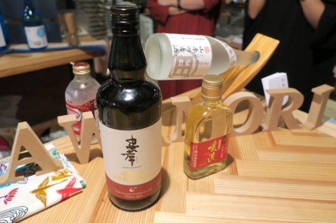 このイベントで試飲に使った泡盛は、忠孝GOLD PREMIUM(30度)。安くて飲みやすいブレンド泡盛。
