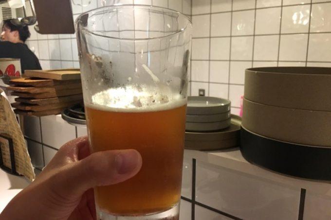 何杯目だろうか、ノースアイランドのIPA。ウマくてスイスイ飲める。