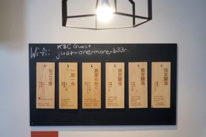 6つあるうちのタップは、定番3種、限定3種。
