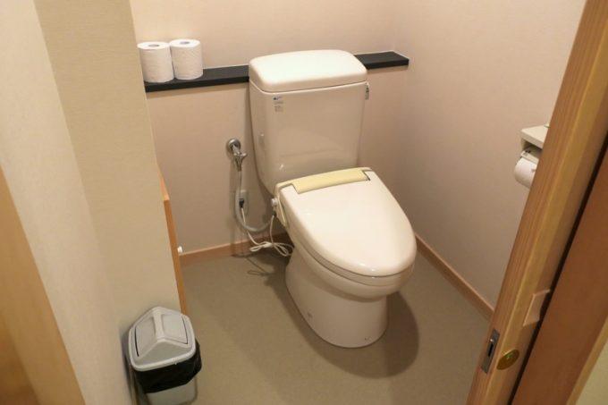 トイレは水洗だが、ウォシュレットはない。