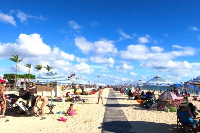 トリイビーチの様子(その1)