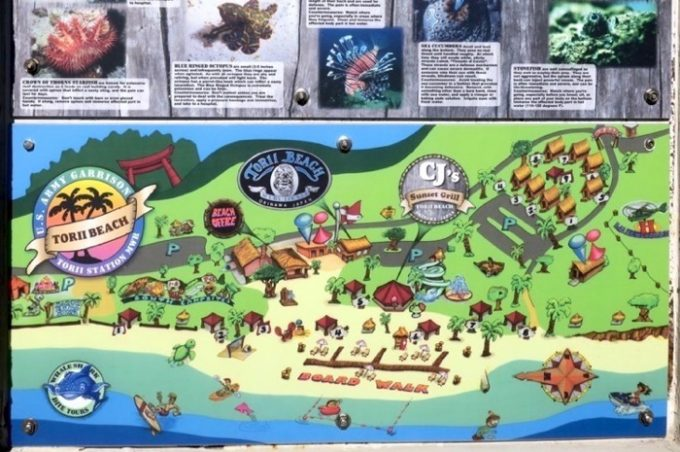 トリイビーチのマップ