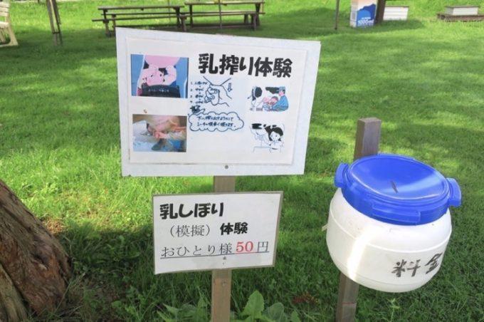 乳搾り体験後に気付いた、乳搾り1回50円...