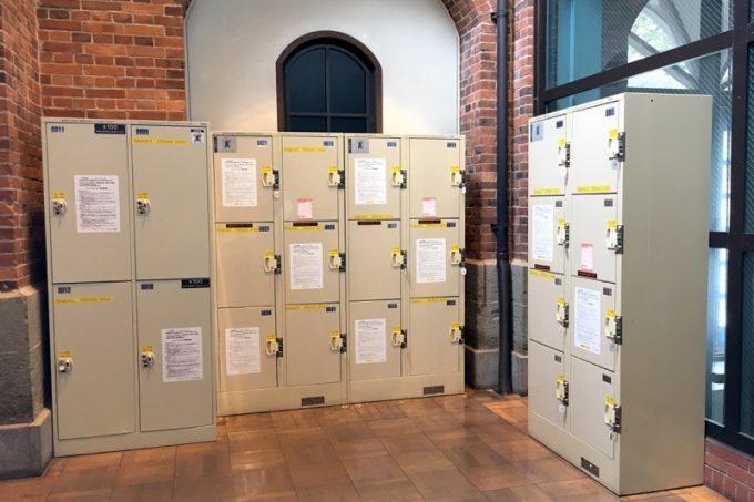 サッポロビール博物館にはロッカーもあるので、荷物を預けて見学できる。