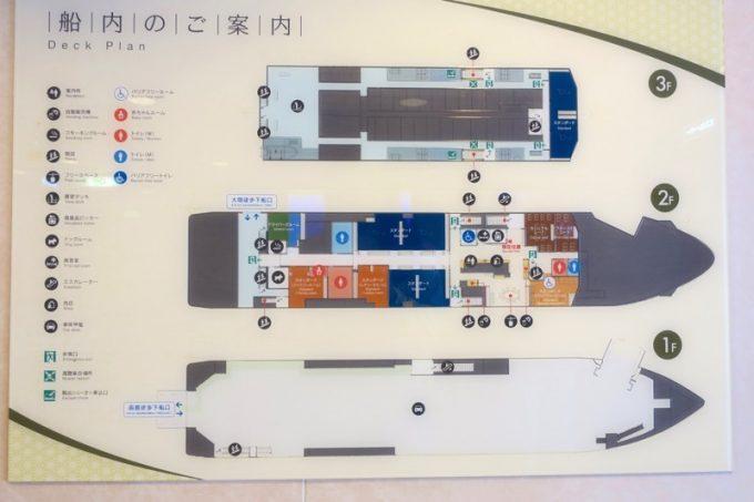 大函丸の船内案内図