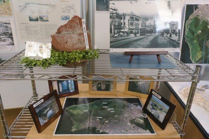 戦時中などの函館市内の写真が展示されていた。