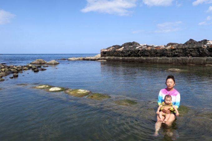 我が子と「水無海浜温泉」に入ろうとは、考えたこともなかった。