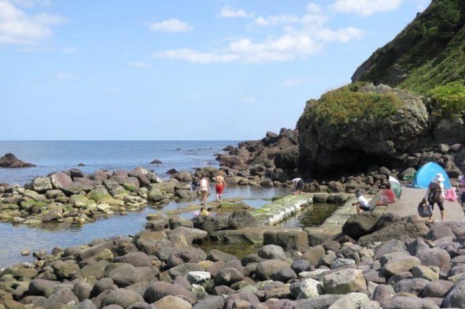 「水無海浜温泉」の天然露天風呂(その3)