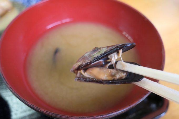 味噌汁が絶品!カラス貝の出汁が素晴らしすぎる。