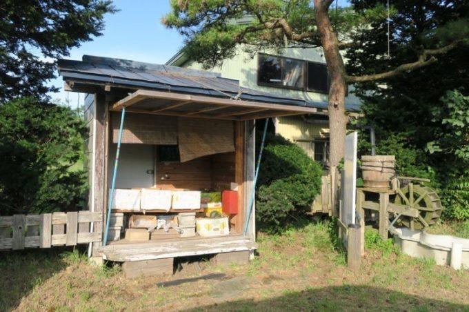今回みやこ南瓜を購入した、駒ケ岳の無人販売所