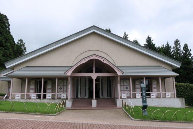 「トラピスチヌ修道院」のお土産を販売している資料館・販売所