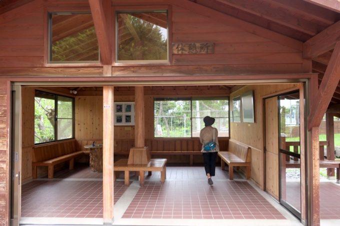 「トラピスチヌ修道院」の休憩所