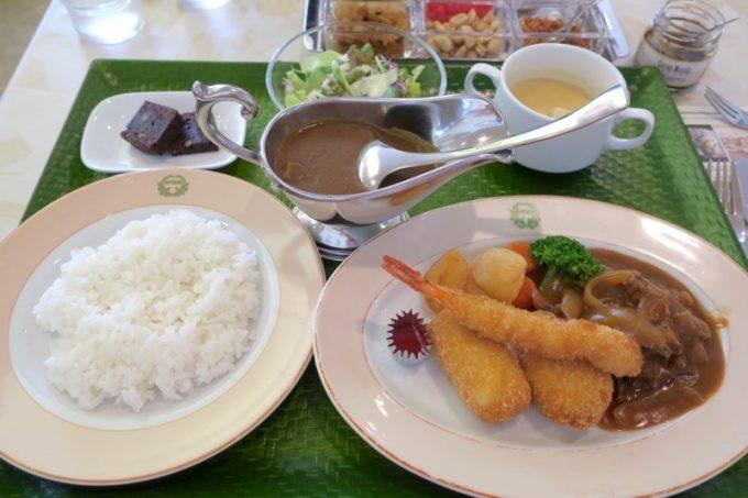 レストラン「雪河亭」で食べた、明治の洋食&カレーセット(2160円)