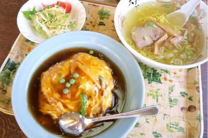 天津飯セット(900円)