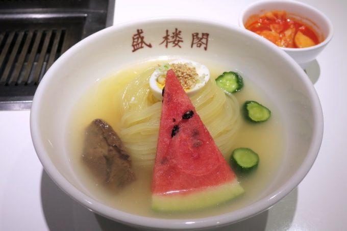 ランチで食べた盛楼閣冷麺(1000円、辛味別)