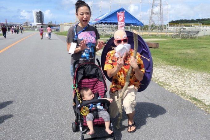 コミコン沖縄の帰り際、亀仙人に遭遇。