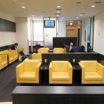 函館空港国内線のカードラウンジ客席。2017年8月にリニュアルした。