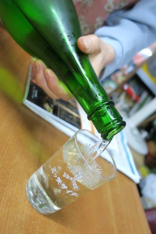 菊の司の日本酒をもっきりで飲みまくる。