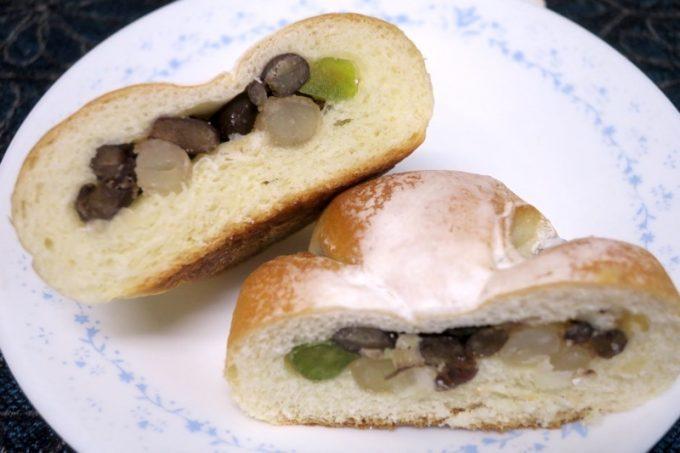 キングベークの5色の豆パン(160円+税)