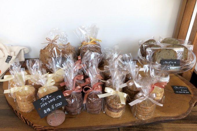 クッキーやパウンドケーキ類も販売している。